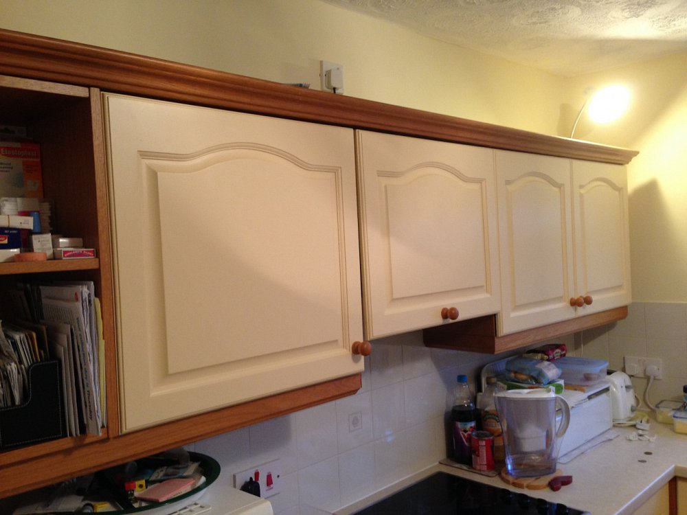Painting doors to blend in with natural wood
